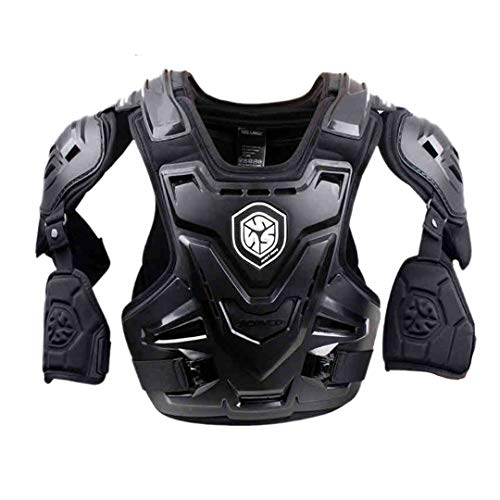 Motorcycle Armor Motocross Chest Back Protector Armour Vest Motorcycle Jacket Racing Protective Body Black XL
