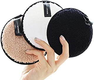 LASSUM 1 Pcs Reusable Makeup Remover Pads, Soft Face Facial Cleaning Powder Puff Cloth Towels Beauty Makeup Remover Tool (Color Random)