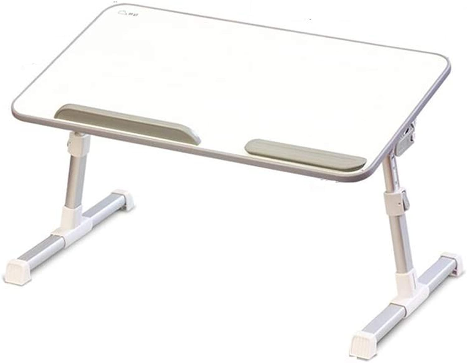 QIDI Folding Table Laptop for Bed Sofa Breakfast Bedroom Home Office Picnic (color   White)