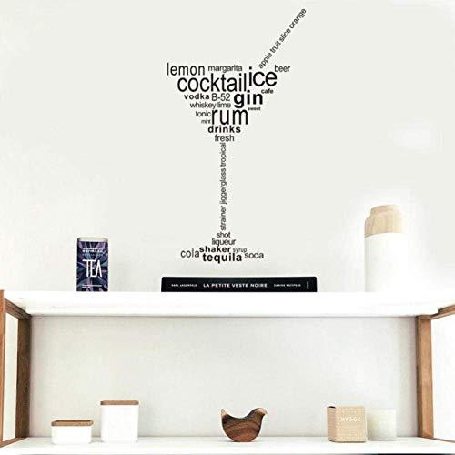 Muursticker Nieuwe Cocktail Ijs Gin Rum Drinks Verwijderbare Art Vinyl muurschildering Home Room Decor Muurstickers voor Woonkamer