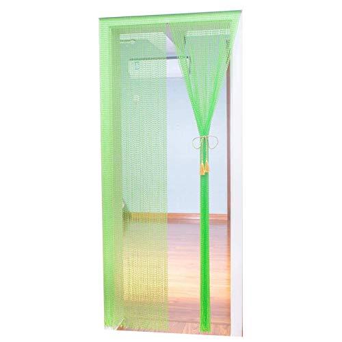 JIAHU Cortina de plástico para puertas de cristal, para colgar, con cuentas, color verde, 1 unidad