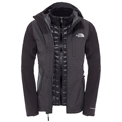 The North Face W Thermoball Tri Chaqueta Negro Gris para Mujer HyVent