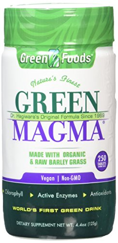 Green Foods Green Magma Barley Grass Juice 500mg - 250 Tablets (PACK OF 1)