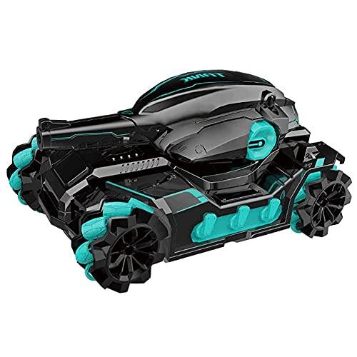 Tastak Coche de control remoto 2.4G Inducción de gestos de la mano Coche RC Puede transmitir Coche de juguete de agua Drift Stunt Tank Car 360 ° Coche de música giratorio Carga Juguetes para niños Reg