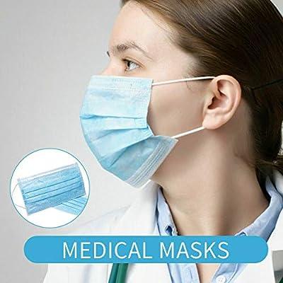 fublousRR5 Earloop Mouth Face Cover, 1/10/50Pcs Disposable Anti-Dust Earloop Protective Mouth Face Cover 10pcs