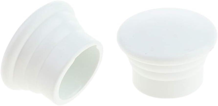 joyMerit Paquet de 2 T/êtes dextr/émit/é de Tringle /à Rideau Pur Fen/être Uniquement Embouts de Tringle /à Rideaux Dia Blanc 28mm