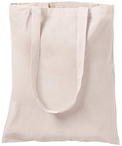 Bolsa tote de algodón natural, para ir de compras, 10 unida