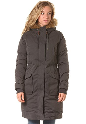 Roxy Cold Paradise - Abrigo para Mujer Gris Verde Oscuro Talla:XL