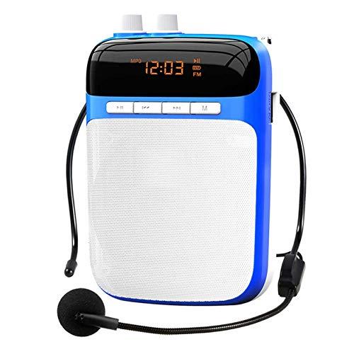 Adesign Auricolare per Microfono Wireless, amplificatori Voice Portatili da 5W 1500mAh Batteria Ricaricabile di Grande capacità per Aula, riunioni e all'aperto (Color : Blue, Size : Wired Version)