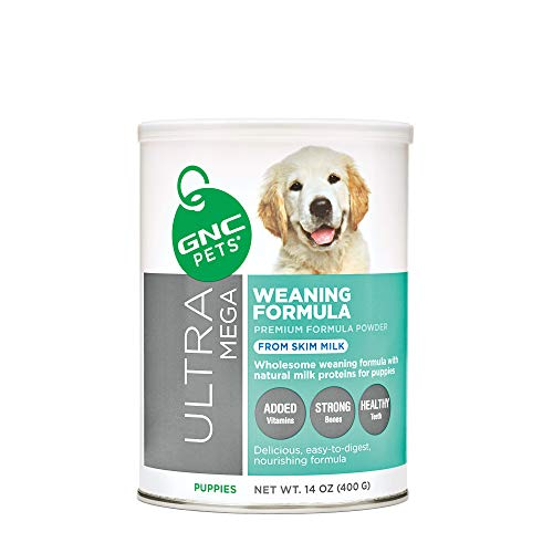 GNC Pets Ultra Mega Weaning Formula Powder for Puppies, 14 Ounces | Puppy Formula Made with Natural Milk Proteins, Supports Kitten Health to Grow Strong