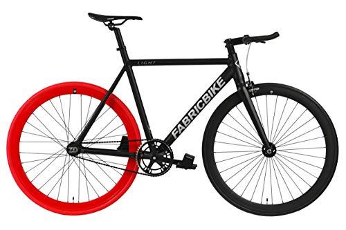 FabricBike Light - Fixed Gear Fahrrad, Single Speed Fixie Starre Nabe, Aluminium Rahmen und Gabel, Räder 28', 4 Farben, 3 Größen, 9.45 kg (Größe M)
