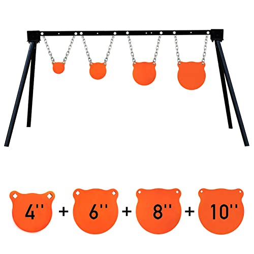 Highwild Steel Target Stand AR500 Shooting Target System (Stand, Mounting Kits & 4'+6'+8'+10' Gongs)