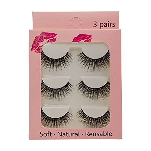 Year-end gift Mink Lashes 3 4 Pairs False Natural 1 year warranty Dramatic Fluffy 3D Eyelashes