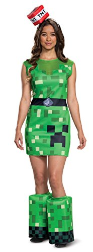 Disguise Women's Creeper Female Adult Costume, Green, S (4-6)