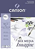 Canson Imagine, Bloc Papel de Dibujo, A4-21 x 29.7 cm, Blanco