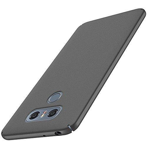 Anccer Cover LG G6 [Serie Colorato] di Gomma Rigida Protezione Da Cadute e Urti LG G6 (Ghiaia Nera)