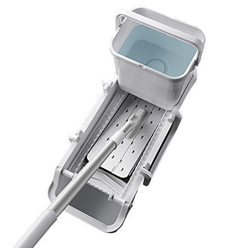 Household appliances 360 ° Drehbarer Mopp Flachmopp, Haushalt Mikrofaser Nicht von Hand waschen Extrusion Trocken und nass Dual-Use- Mopp, Für Fliesen, Fenster Schmutzige Trennung Mop Set