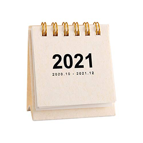 DQANIU 2021 Desk Calendar Schedule Creative Simple Desktop Timetable Convenient And Mini Easily Removable Perforated Pages Enable You To Move Onto The Next Month With Ease