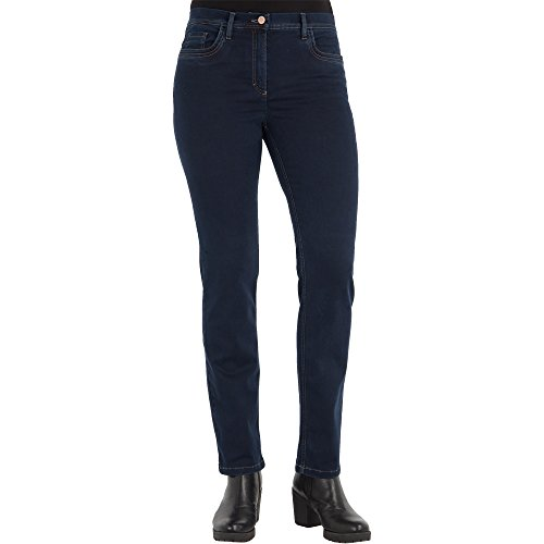Zerres Damen Jeans GINA Straight Fit Tencel Denim, Größe:22;Farbe:06 DARKBLUE