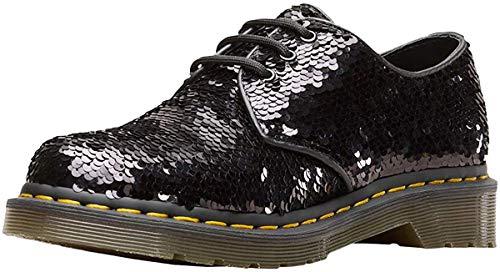 Dr. Martens 1461 Sequin Damen Halbschuhe schwarz Silber Pailletten, Schuhgröße:40 EU