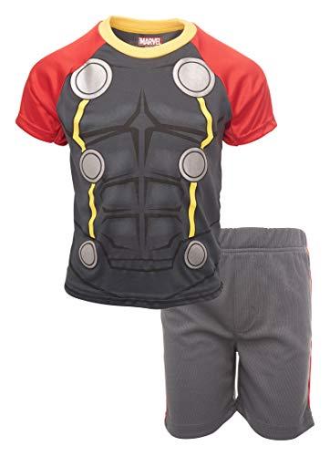Marvel Avengers Thor Boys' T-Shirt & Shorts Clothing Set (Black 7)