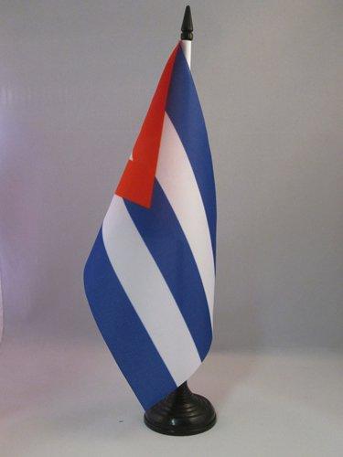 AZ FLAG Bandera de Mesa de Cuba 21x14cm - BANDERINA de DESPACHO Cubana 14 x 21 cm