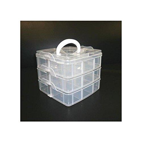 xxl-cosmetic Allzweck Koffer Klappbox Stapelkoffer Transparent 656