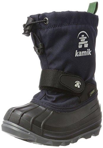 Kamik Unisex-Jungen Waterbug8g Winterstiefel, Blau (Navy/Marine), 30 EU