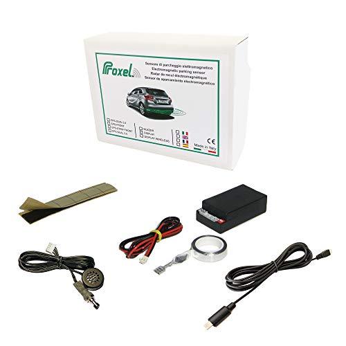 Sensori di Parcheggio Elettromagnetici Invisibili EPS-FRONT Anteriori Senza Forare il Paraurti, Kit Universale e Originale Proxel Versione 2020