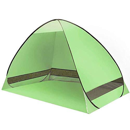 ROMOR Strandmuschel Automatisches Campingzelt Strandzelt Zelt für 2 Personen Sofortiges Aufklappen Anti-UV-Markisenzelte Außensonnenschutz @ Light_Green