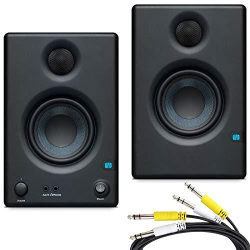 Presonus Eris 3.5 Aktive Multimedia Monitor-Boxen + 2-fach Klinke Anschluss-Kabel 2m