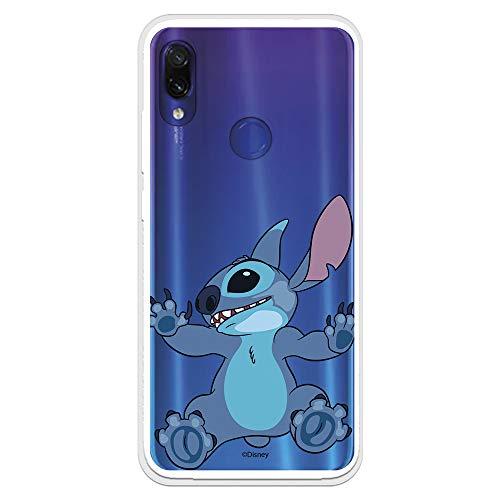 Funda para Xiaomi Redmi Note 7-Note 7 Pro Oficial de Lilo & Stitch Stitch Trepando para Proteger tu móvil. Carcasa para Xiaomi de Silicona Flexible con Licencia Oficial de Disney.