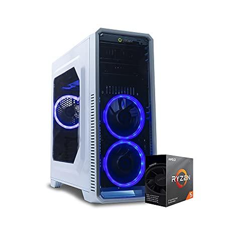 Pc gaming ryzen 5 3600,Ram 16 Gb,Ssd 256Gb + Hdd 1 Tb Scheda video NVIDIA GTX 1650 4GB,Windows 10 Pro/Computer da gaming assemblato completo Pc desktop Ryzen
