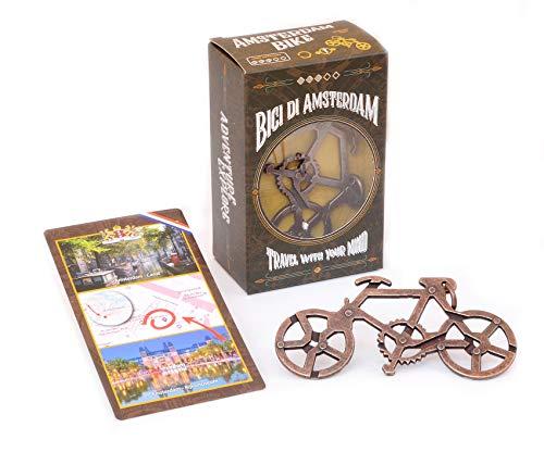 LOGICA GIOCHI Art. Bici di Amsterdam - Rompicapo in Lega - Difficoltà 3/6 Difficile - Serie Viaggiatori da Collezione - Cast Puzzle