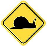 Schnecke Aufkleber Achtung Vorsicht Tier in 8 Größen thumbnail