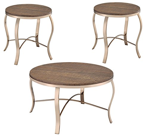 Furniture of America Andreanna 3 PC Round Coffee Table Set