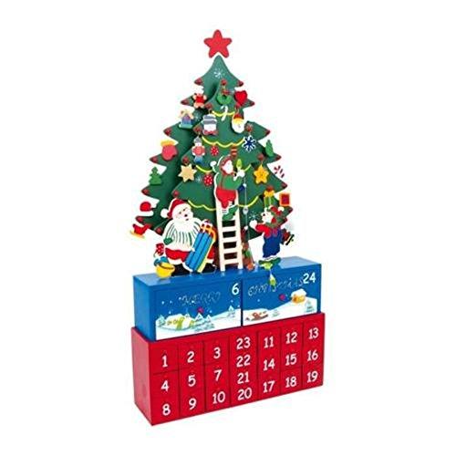'LD decorazioni di Natale Calendario dell' Avvento 'Abete albero di Natale Calendario