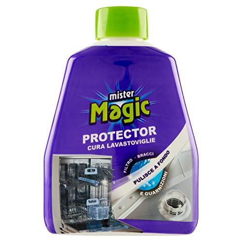 Mister Magic, Protector Curalavastoviglie, Trattamento Disincrostante, Pulisce e Protegge le Guarnizioni, Previene le Otturazioni, 250 ml