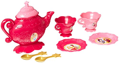 Disney Princess 98062 8 Piece Tea Set Teaset, Mehrfarbig
