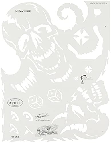 Artool Freehand Airbrush Templates, Son Of Skull Managerie by Iwata-Medea