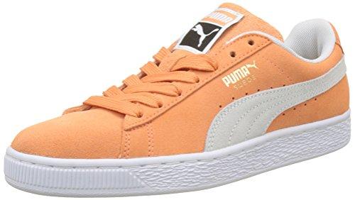 PUMA Suede Classic, Scarpe da Ginnastica Basse Unisex-Adulto, Arancione (Melon White), 38 EU