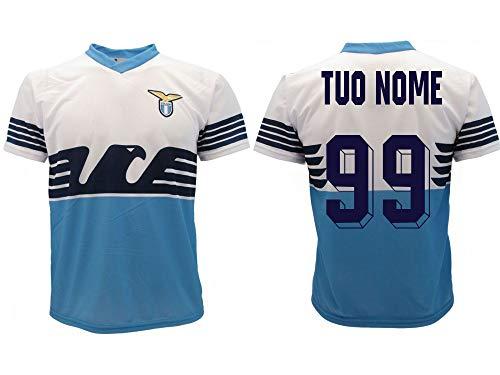 Lazio Lazio Offizielles Trikot 2018/2019 SS Lazio für Erwachsene, Name und Nummer zur Wahl personalisierbar, Biancoceleste, M
