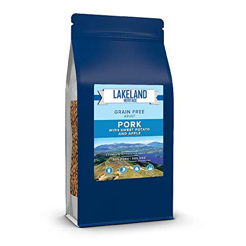 Lakeland Heritage Premium High Protein Komplett-Trockenfutter für Hunde, 50% Schweinefleisch, natürlich, getreidefrei, hypoallergen, für ausgewachsene Hunde und alle Rassen, 12 kg Beutel