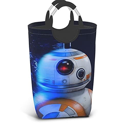 Star The Wars Mandalorian R2-D2 - Cesta de lavandería portátil con asa para guardar ropa de baño