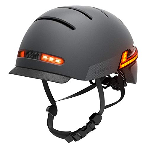 LIVALL Smart Helm, Fahrradhelm mit LED-Frontleuchten und Bremswarnleuchten, eingebaute Mikrofonlautsprecher für Bluetooth-Musik und Anrufe, SOS-Alarm, Smart Bike Helm-aktualisierte Version BH51M Neo