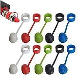 CESFONJER 10 Pcs soportes con anillas y tapón para depósito de vapeador 510 810 RTA RDA, silicona, antideslizante (Rojo, blanco, negro, azul, verde, 2 piezas respectivamente)