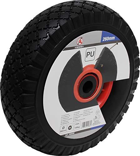 BGS Diy 80650 | Rad für Sackkarren/Bollerwagen | PU, rot/schwarz | 260 mm