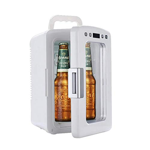 Mini Fridge AC/DC 12-liter Electric Portable Thermoelectric Cooler and Warmer Beverage Cooler and Refrigerator for Bedroom, Office, Car, Dorm, Travel Camping Picnic