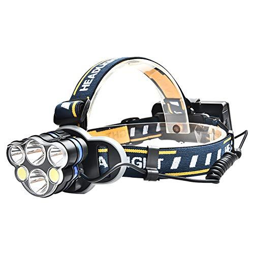 HMMDD Casque D'extérieur USB Rechargeable Lampe-Torche 6LED Phare Fort Searchlight Randonnée Vélo Vélo Adulte
