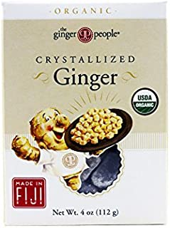 The Ginger People Organic Crystallized Ginger, 4 Ounce Boxes (Pack of 6)